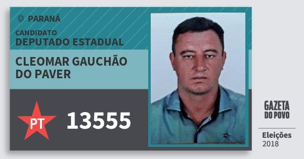 Santinho Cleomar Gauchão do Paver 13555 (PT) Deputado Estadual | Paraná | Eleições 2018