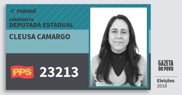 Santinho Cleusa Camargo 23213 (PPS) Deputada Estadual | Paraná | Eleições 2018