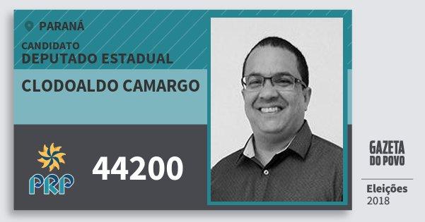 Santinho Clodoaldo Camargo 44200 (PRP) Deputado Estadual | Paraná | Eleições 2018