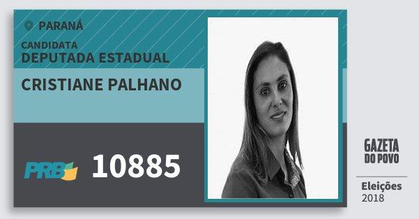 Santinho Cristiane Palhano 10885 (PRB) Deputada Estadual | Paraná | Eleições 2018