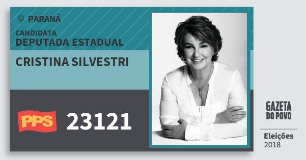 Santinho Cristina Silvestri 23121 (PPS) Deputada Estadual | Paraná | Eleições 2018