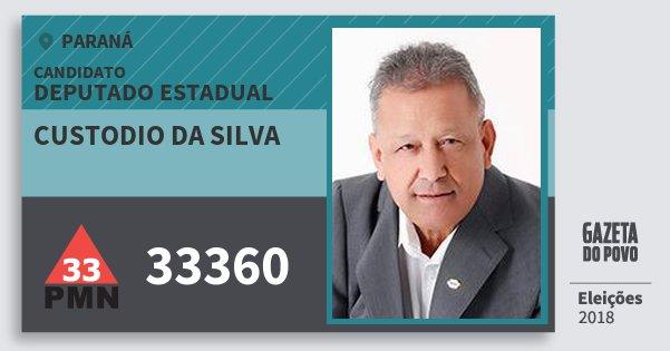 Santinho Custodio da Silva 33360 (PMN) Deputado Estadual | Paraná | Eleições 2018