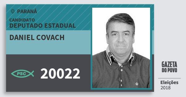 Santinho Daniel Covach 20022 (PSC) Deputado Estadual | Paraná | Eleições 2018
