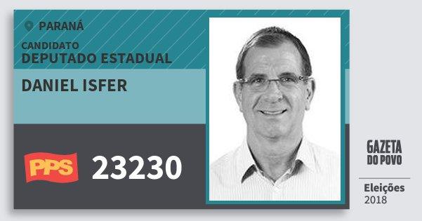 Santinho Daniel Isfer 23230 (PPS) Deputado Estadual | Paraná | Eleições 2018