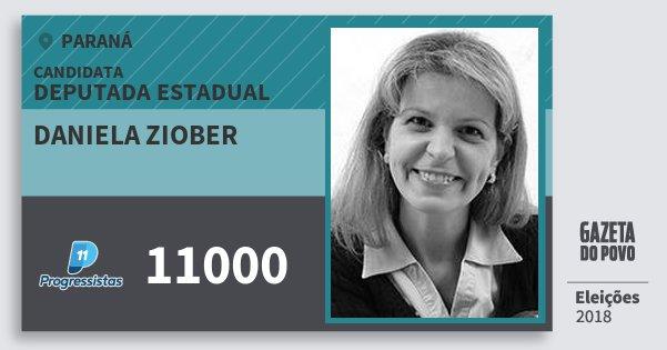 Santinho Daniela Ziober 11000 (PP) Deputada Estadual | Paraná | Eleições 2018
