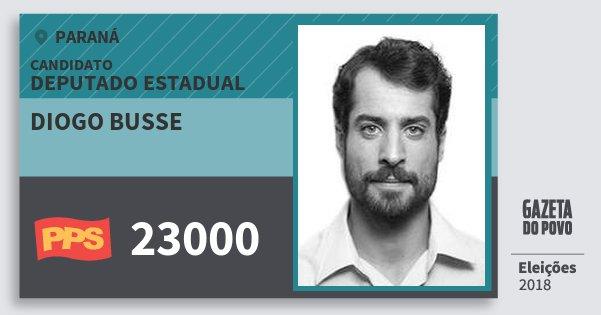 Santinho Diogo Busse 23000 (PPS) Deputado Estadual | Paraná | Eleições 2018