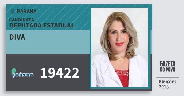 Santinho Diva 19422 (PODE) Deputada Estadual | Paraná | Eleições 2018