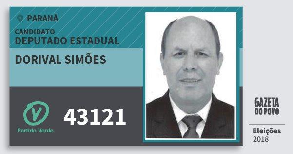 Santinho Dorival Simões 43121 (PV) Deputado Estadual | Paraná | Eleições 2018