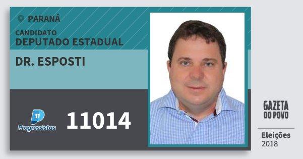 Santinho Dr. Esposti 11014 (PP) Deputado Estadual | Paraná | Eleições 2018
