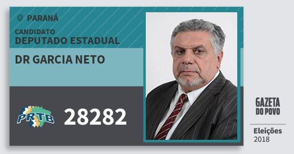 Santinho Dr Garcia Neto 28282 (PRTB) Deputado Estadual | Paraná | Eleições 2018