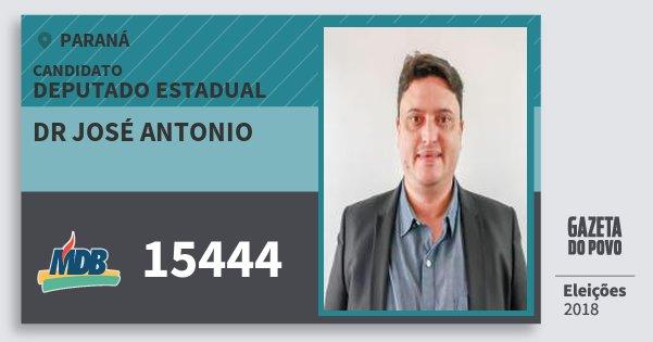 Santinho Dr José Antonio 15444 (MDB) Deputado Estadual | Paraná | Eleições 2018