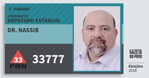 Santinho Dr. Nassib 33777 (PMN) Deputado Estadual | Paraná | Eleições 2018