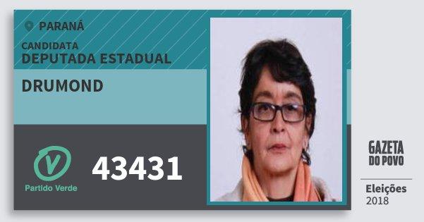 Santinho Drumond 43431 (PV) Deputada Estadual | Paraná | Eleições 2018