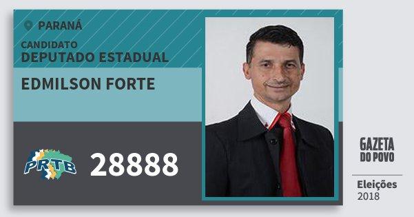 Santinho Edmilson Forte 28888 (PRTB) Deputado Estadual | Paraná | Eleições 2018
