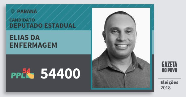 Santinho Elias da Enfermagem 54400 (PPL) Deputado Estadual | Paraná | Eleições 2018