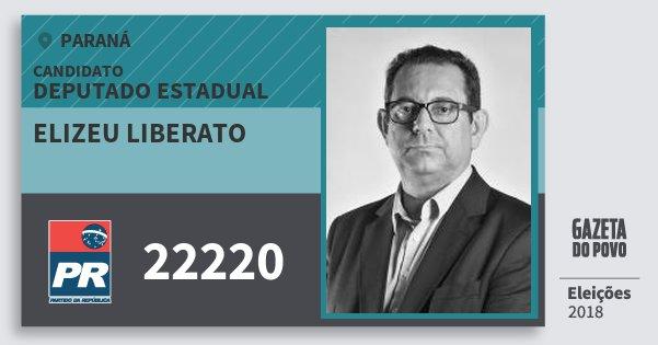 Santinho Elizeu Liberato 22220 (PR) Deputado Estadual | Paraná | Eleições 2018