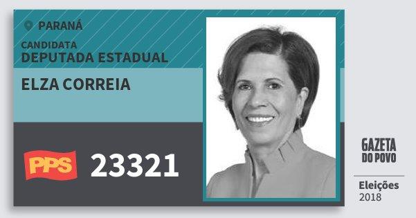 Santinho Elza Correia 23321 (PPS) Deputada Estadual | Paraná | Eleições 2018