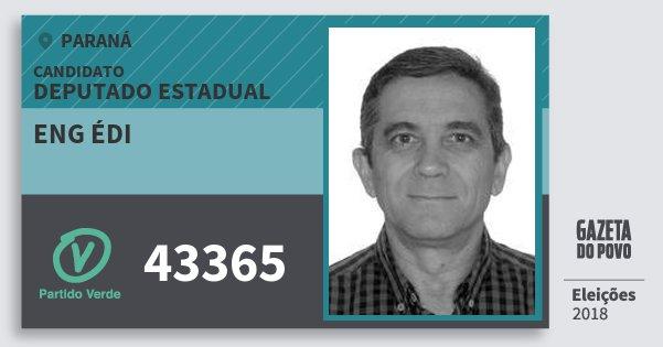 Santinho Eng Édi 43365 (PV) Deputado Estadual | Paraná | Eleições 2018