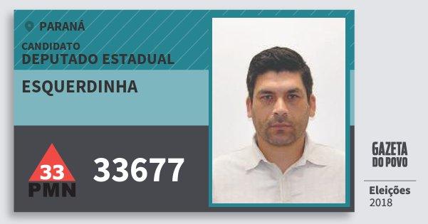 Santinho Esquerdinha 33677 (PMN) Deputado Estadual | Paraná | Eleições 2018