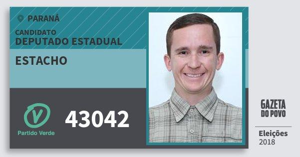 Santinho Estacho 43042 (PV) Deputado Estadual | Paraná | Eleições 2018