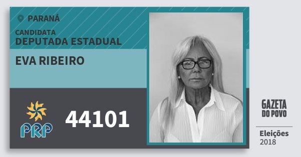 Santinho Eva Ribeiro 44101 (PRP) Deputada Estadual | Paraná | Eleições 2018