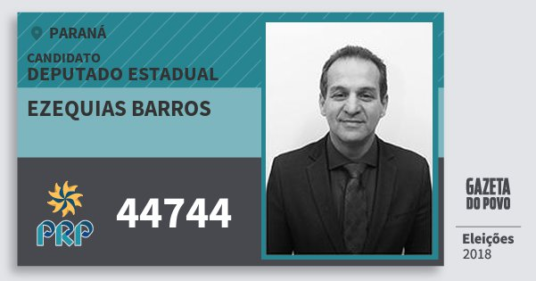 Santinho Ezequias Barros 44744 (PRP) Deputado Estadual | Paraná | Eleições 2018