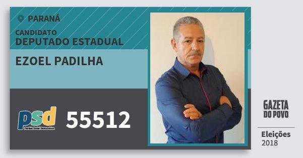 Santinho Ezoel Padilha 55512 (PSD) Deputado Estadual | Paraná | Eleições 2018