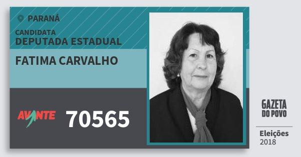 Santinho Fatima Carvalho 70565 (AVANTE) Deputada Estadual | Paraná | Eleições 2018