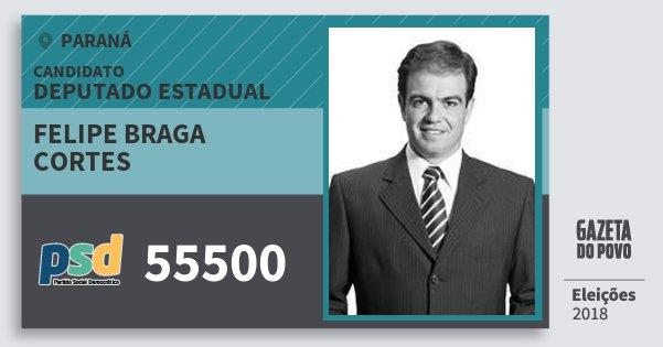 Santinho Felipe Braga Cortes 55500 (PSD) Deputado Estadual | Paraná | Eleições 2018