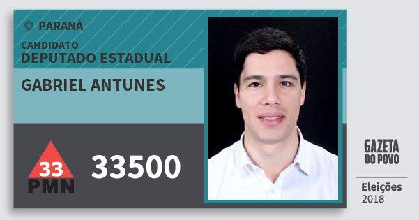 Santinho Gabriel Antunes 33500 (PMN) Deputado Estadual | Paraná | Eleições 2018