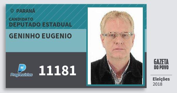 Santinho Geninho Eugenio 11181 (PP) Deputado Estadual | Paraná | Eleições 2018