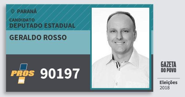 Santinho Geraldo Rosso 90197 (PROS) Deputado Estadual | Paraná | Eleições 2018
