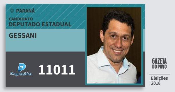 Santinho Gessani 11011 (PP) Deputado Estadual | Paraná | Eleições 2018
