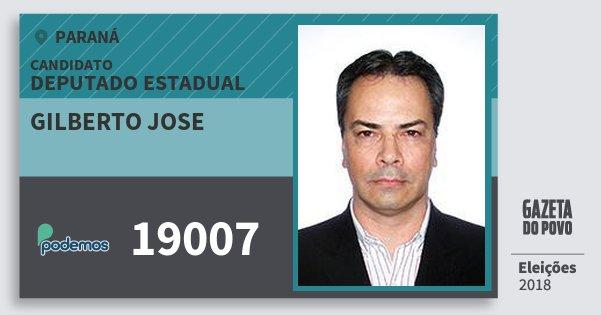 Santinho Gilberto Jose 19007 (PODE) Deputado Estadual | Paraná | Eleições 2018