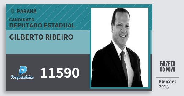 Santinho Gilberto Ribeiro 11590 (PP) Deputado Estadual | Paraná | Eleições 2018