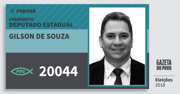 Santinho Gilson de Souza 20044 (PSC) Deputado Estadual | Paraná | Eleições 2018