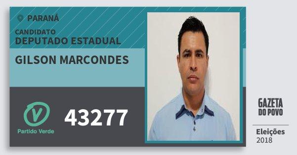 Santinho Gilson Marcondes 43277 (PV) Deputado Estadual   Paraná   Eleições 2018