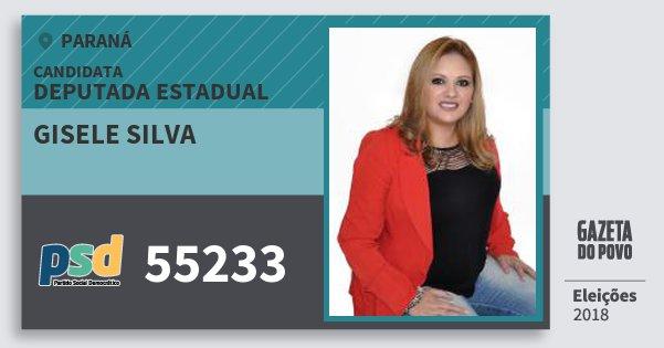 Santinho Gisele Silva 55233 (PSD) Deputada Estadual | Paraná | Eleições 2018