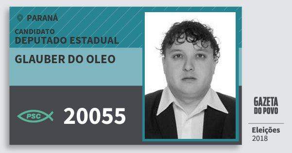 Santinho Glauber do Oleo 20055 (PSC) Deputado Estadual | Paraná | Eleições 2018