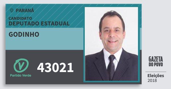 Santinho Godinho 43021 (PV) Deputado Estadual | Paraná | Eleições 2018
