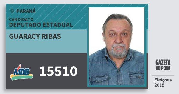 Santinho Guaracy Ribas 15510 (MDB) Deputado Estadual | Paraná | Eleições 2018