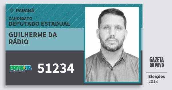 Santinho Guilherme da Rádio 51234 (PATRI) Deputado Estadual | Paraná | Eleições 2018