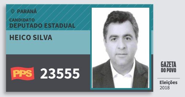 Santinho Heico Silva 23555 (PPS) Deputado Estadual | Paraná | Eleições 2018
