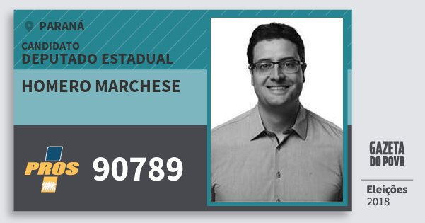 Santinho Homero Marchese 90789 (PROS) Deputado Estadual | Paraná | Eleições 2018