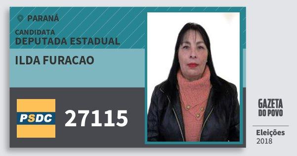 Santinho Ilda Furacao 27115 (DC) Deputada Estadual | Paraná | Eleições 2018