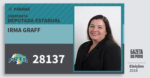Santinho Irma Graff 28137 (PRTB) Deputada Estadual | Paraná | Eleições 2018