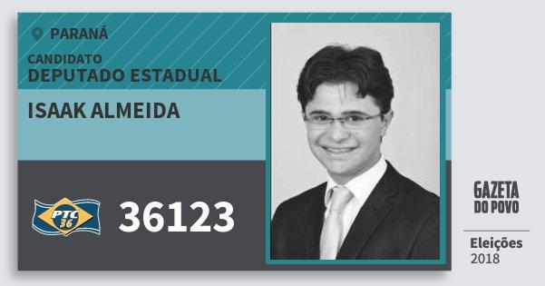 Santinho Isaak Almeida 36123 (PTC) Deputado Estadual | Paraná | Eleições 2018