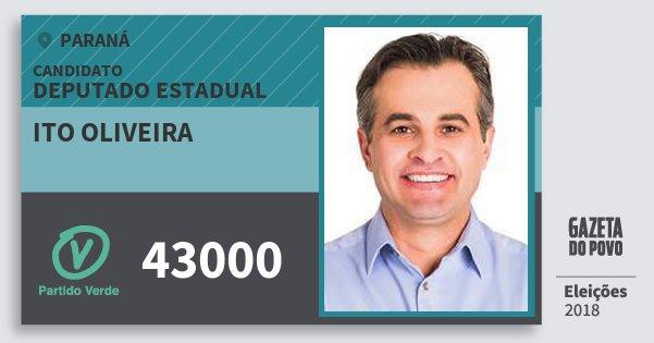 Santinho Ito Oliveira 43000 (PV) Deputado Estadual | Paraná | Eleições 2018