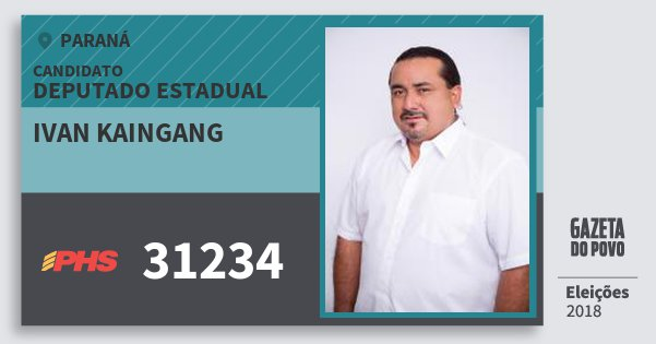 Santinho Ivan Kaingang 31234 (PHS) Deputado Estadual | Paraná | Eleições 2018