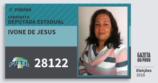 Santinho Ivone de Jesus 28122 (PRTB) Deputada Estadual | Paraná | Eleições 2018